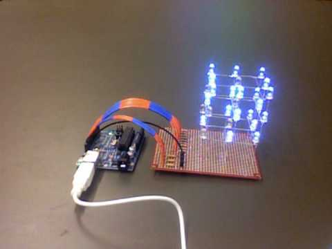 LED Cube 3x3x3 with Arduino