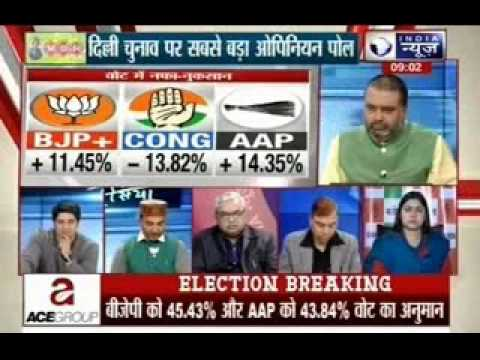 Tonight with Deepak Chaurasia: Biggest openion poll- Who will be the CM of  Delhi?
