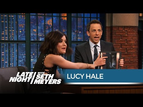 "The Pretty Little Liars Writers Refuse to Tell Lucy Hale Who ""A"" Is - Late Night with Seth Meyers"