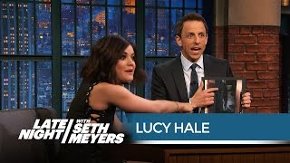 """The Pretty Little Liars Writers Refuse to Tell Lucy Hale Who """"A"""" Is - Late Night with Seth Meyers"""