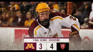 Gopher Hockey Falls to No. 7 Harvard in OT of Mariucci Classic Championship