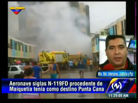 Accidente aeronave N119FD en Parque Valencia, Venezuela. Ambos tripulantes fallecieron.