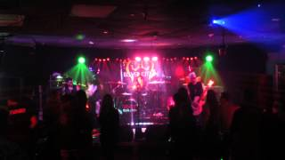 Les Warner guesting drums on Big Neon Glitter with Cult Revlution 11-26-14 in Orlando, Fl