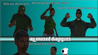 GTA San Andreas - All Unused Dialogues (Part 1)