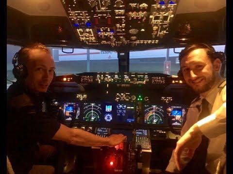 Guy Perryman Flies The Flight Experience London Simulator