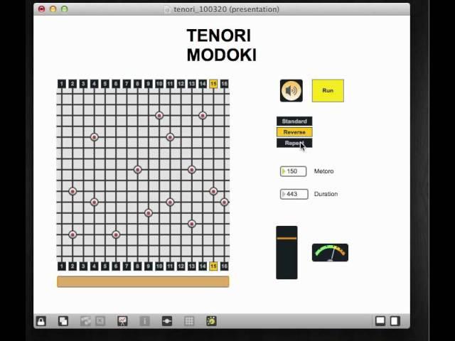 TENORI MODOKI - MaxMSP