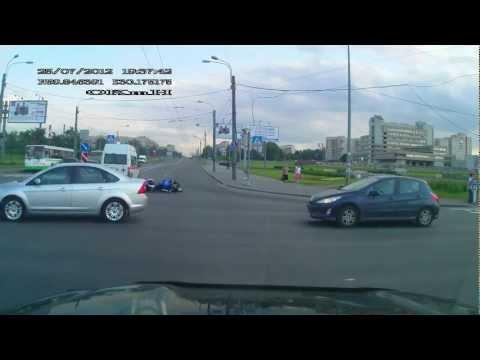 ДТП СПб мотоцикл VS скорая