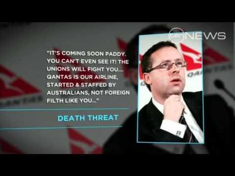 Qantas death threats