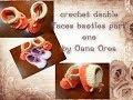 crochet double faces booties part one