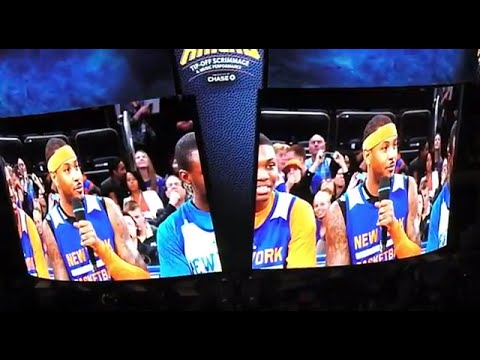 NEW YORK KNICKS 2014-15 OPEN SCRIMMAGE & CONCERT Q AND A