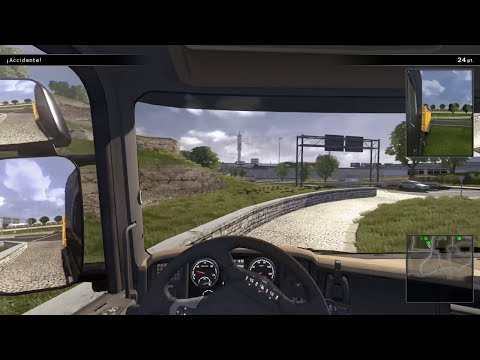 ACCIDENTES CON RITMO - PASEANDO CON TOWN (Scania Truck Driving Simulator )