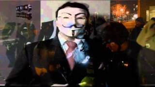 """You Tube Member """"Anonymous Resistance Movement"""" Black Bloc Member Planning Uber Violence in Clevelan"""