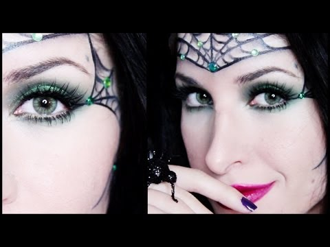 Sexy Spider Princess Halloween Makeup Tutorial (No Costume? No problem!)