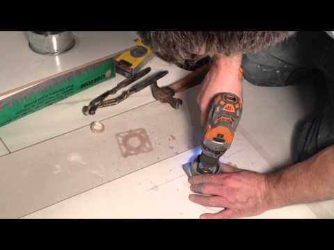 How to drill a large hole in ceramic tile