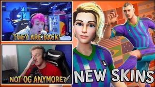 "STREAMERS REACT TO *SWEATY* ""SOCCER"" SKINS *BACK* IN FORTNITE! *RARE* Fortnite FUNNY & EPIC Moments"