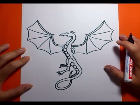 Como dibujar un dragon paso a paso 7 How to draw one dragon 7
