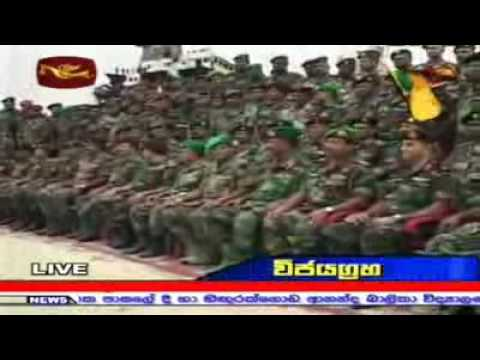 Sri Lanka Army Ceremonially Silences Their Guns video