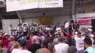 """Abaniquito"" Mambo Legends at Old Timers Stick Ball Festival video by Jose Rivera 7:12:15"