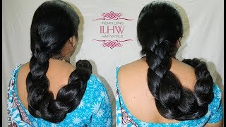Monster Cobra Braid Making With Below knee Length Extra Thick Mane By ILHW Rapunzel Neelima