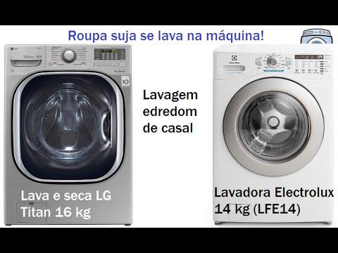 Lavadora Electrolux 14 kg e Lava e seca LG Titan 16 kg - Lavando edredom de casal