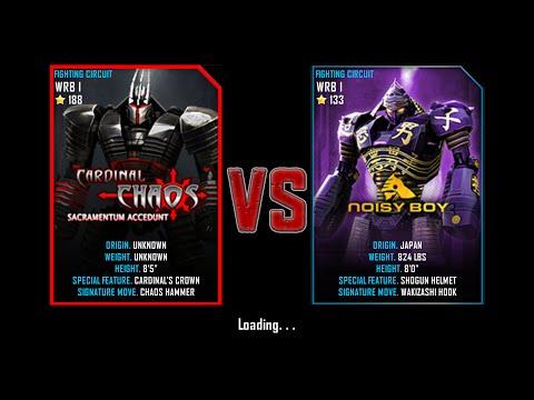 Real Steel WRB Championship Cardinal Chaos VS Noisy Boy NEW ROBOT UPDATE Halloween