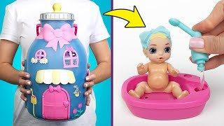 Sam y Su abren Baby Born Surprise : el kit de Baby Bottle House! 🍼