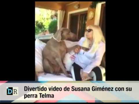 Divertido De Susana Gimenez Con Su Perra Telma 11 01