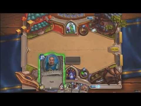 Blizzard Hearthstone: Чернокнижник против друида (русский комментарий)