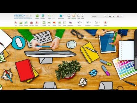 Создание продающего сайта бесплатно за 5 минут в конструкторе vedrichweb.ru