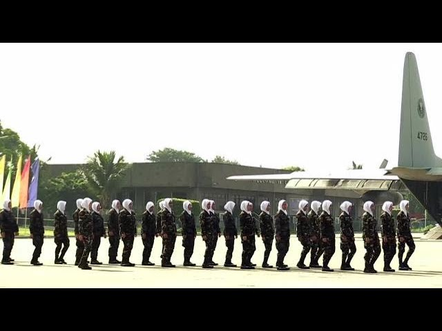 Send-off ceremony of female contingent to Marawi for rehabilitation and recovery programs