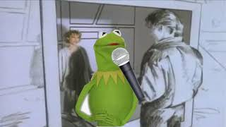 Kermit sings Take On Me but there are several voice cracks