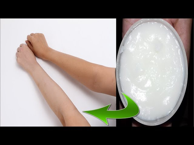 Homemade Body Whitening Cream | Homemade Manicure Pedicure Cream | Homemade Skin Whitening Lotion