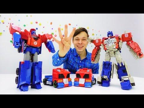 Игры #Трансформеры! Видео про игрушки. Оптимуса клонировали! Десептиконы и супероружие. Папа Тайм.