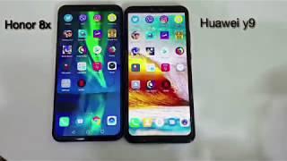 اختبار السرعةبين جهاز Huawei Y9 2019 وجهاز  Honor 8x