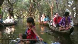 CAMBODIA kampong (kompong) Phluk, Tonle Sap Lake (hd-video).