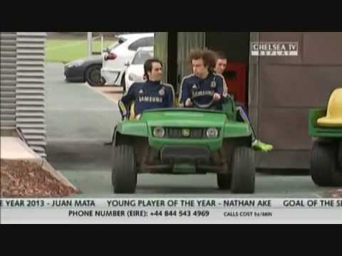Having some fun! David Luiz's 'erratic' driving