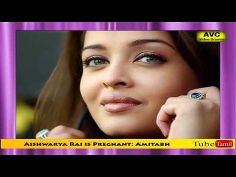 Actor Amitabh Bachchan twitted that actress Aishwarya Rai is pregnant