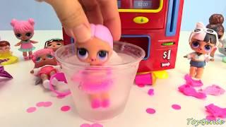 LOL Surprise Dolls Wrong Clothes Lil Sisters Vending Machine Surprsies Toy Video