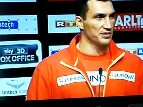 Pressekonferenz zum WM-Kampf Klitschko vs. Haye 2.