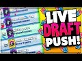 HOW MANY WINS?! Draft Tournament Live in CLASH ROYALE!