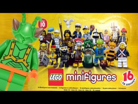 LEGO Collectable Minifigures Series 10 Review 71001 (Complete. except Mr. Gold)