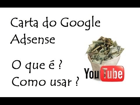 Carta do Google Adsense / O que é ? . Como usar ? / DavidTecNew / PT BR