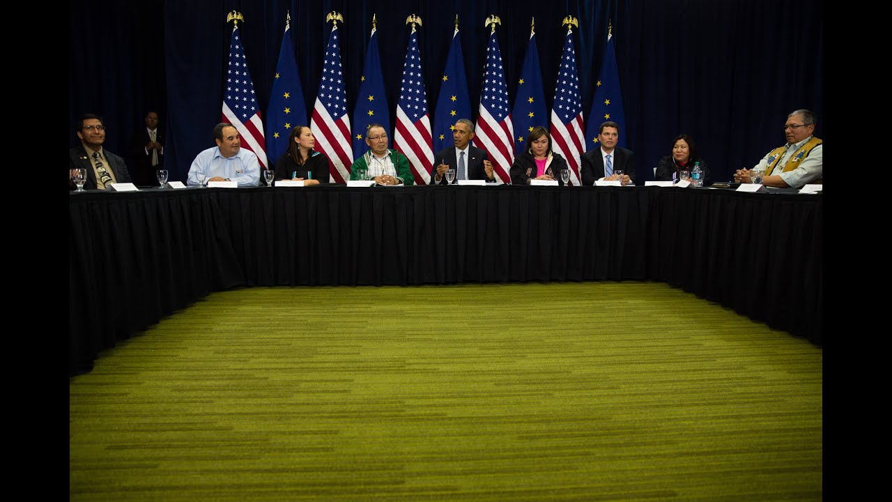 The President Holds a Roundtable with Alaska Native Leaders