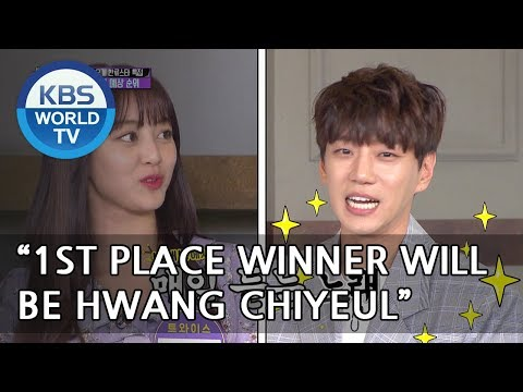 "Jihyo ""I think Chiyeul will be the first-place winner"" [Happy Together/2018.05.10]"