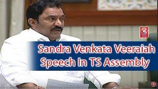 MLA Sandra Venkata Veeraiah Speech In TS Assembly | Budget Sessions