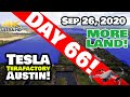 Tesla Gigafactory Austin 4K  Day 66 - 9/26/20 - Tesla Terafactory Austin TX - GREEN ACRES EXPANSION!