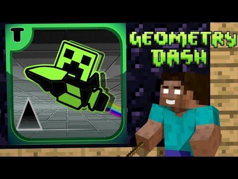Monster School: Geometry Dash Challenge - Minecraft Animation