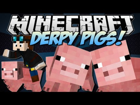Minecraft   DERPY PIGS! (Flying Pigs. Derpy Dimension & More!)   Mod Showcase [1.6.4]