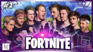 FORTNITE 4V4 met Roy, Don, Jeremy, Milan, Link, Duncan, Joost en Roedie | LOGS3 | #1