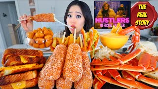 MOST POPULAR CHEESY FOOD (Seafood Boil, Cheesy Corndogs, Grilled Cheese) MUKBANG | Eating Show